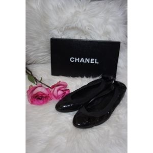 Chanel Stretch Spirit Cap Toe Ballet Flats